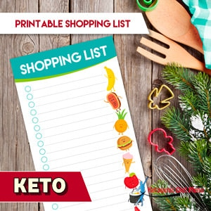 Keto Foods List Printable